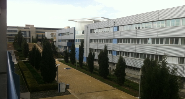 View from CS Building towards the University House